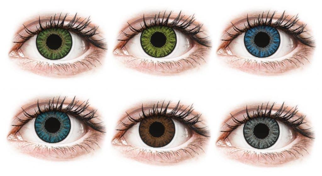 TopVue Color kertakäyttölinssien värivaihtoehdot