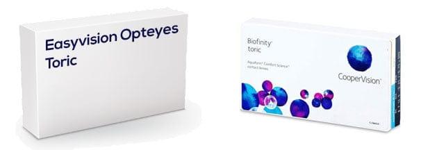 Easyvision Opteyes Toric vastaava tuote