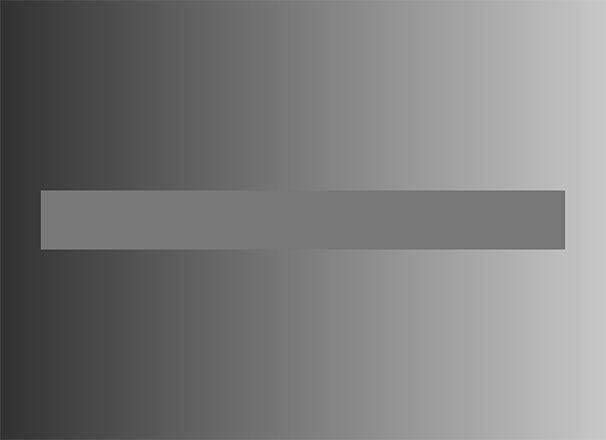 Gradientti-illuusio. Kuva: Dodek, Wikimedia Commons