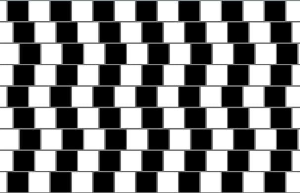 Kahvilan seinä illuusio. Kuva Fibonacci, Wikimedia Commons