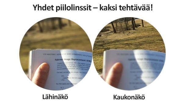 Monovision-piilolinssit. Kuva: MD-Health.com.