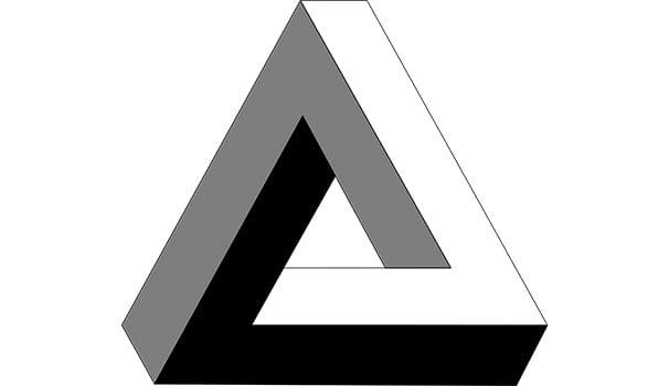 Penrosen kolmio. Kuva: Wikimedia Commons