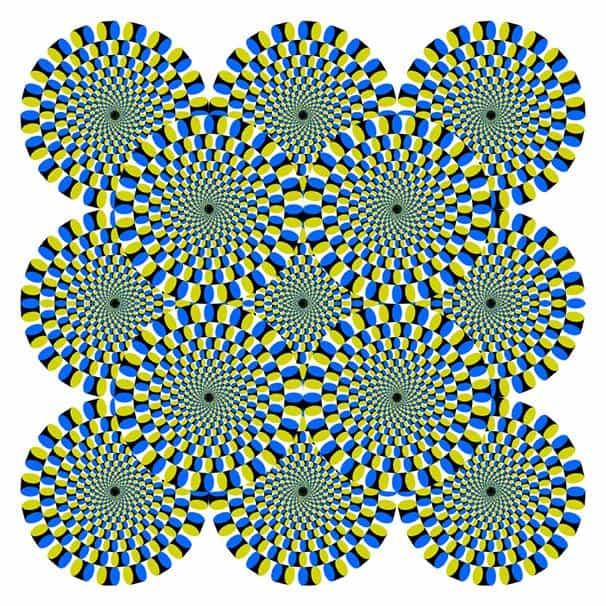 Pyörivät käärmeet illuusio